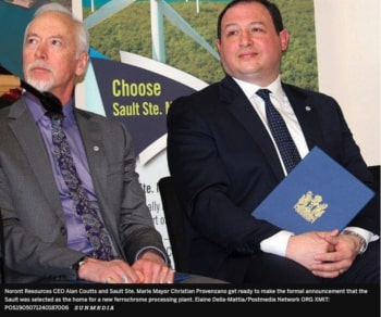 TIMMINS EXPECTS TO GET FERROCHROME PLANT