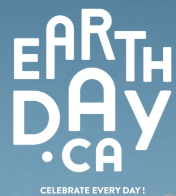 eARTH DAY LOGO WITH BLUE BACKGROUND